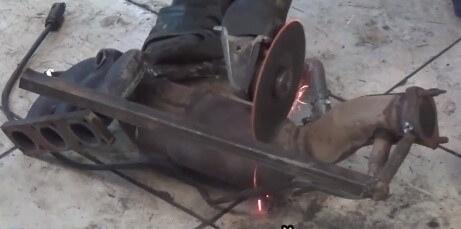 Установка пламегасителей BMW X5