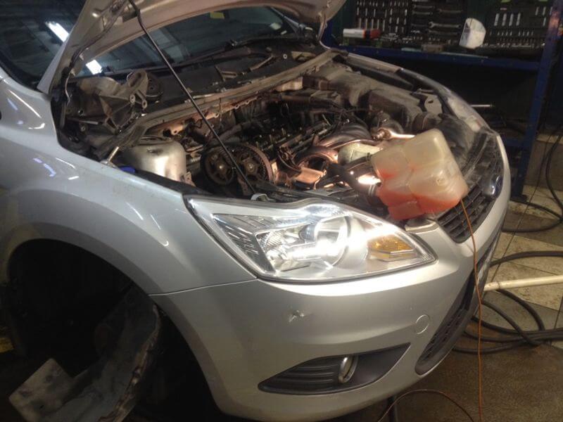 Замена ремня ГРМ Ford Focus-2 1.6 л и 1.8