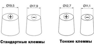 Как определить полярность аккумулятора