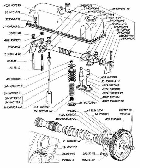 Регулировка клапанов ГАЗ 402