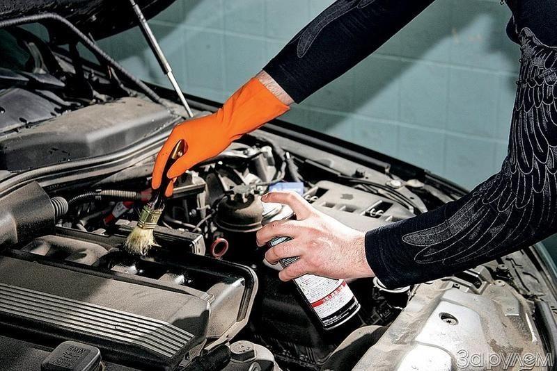 Средства для мойки двигателя автомобиля