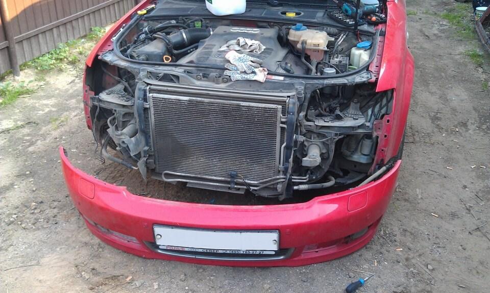 Промывка радиатора охлаждения двигателя изнутри и снаружи